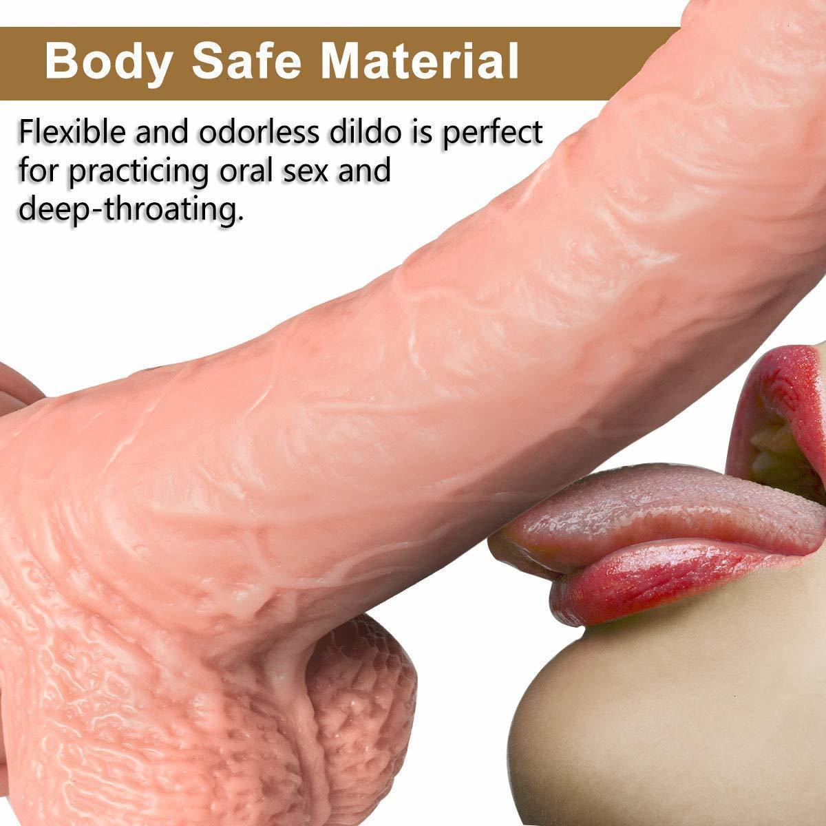 7.5 Inches Women's Huge Dildo Penis Cock Whopper Dong Big Realistic Shape With Suction Cup Masturbator Adult Toy Sex Products