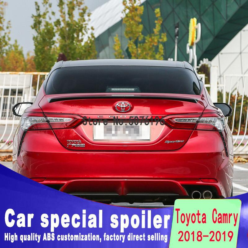 For <font><b>toyota</b></font> <font><b>corolla</b></font> 2018 to <font><b>2019</b></font> high quality ABS material <font><b>spoiler</b></font> by Primer Color image