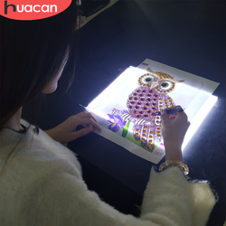 HUACAN A5 LED Light Tablet Pad New Arrival Diamond Painting Accessories Three Level Dimmable Ultrathin
