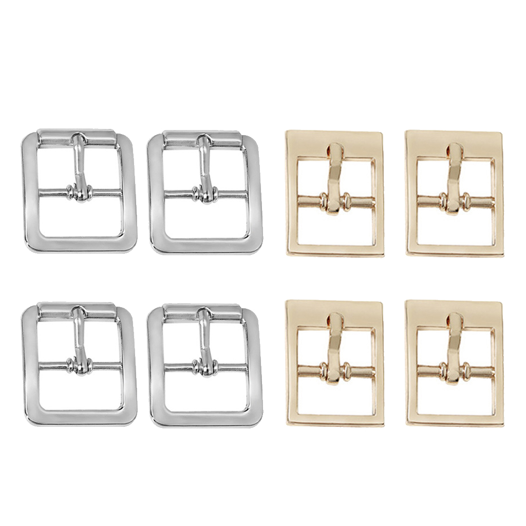 4pcs Center Bar Buckles Single Pin Prong Belt Buckle Accessories From Leather Craft Repair Thickness