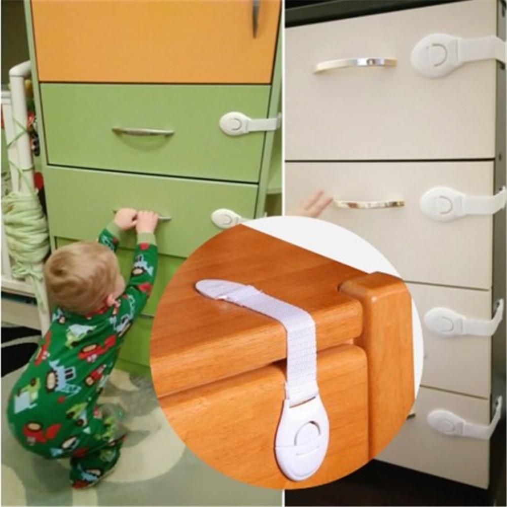 Child Lock Protection Of Children Locking Doors Velcro Door Stop For Children's Safety Kids Safety Plastic Protection Lock