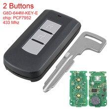433Mhz 2 Knop Slimme Afstandsbediening Sleutel Met PCF7952 Chip Fcc G8D-644M-KEY-E Auto Key Vervanging Fit Voor Mitsubishi Outlander Sport als