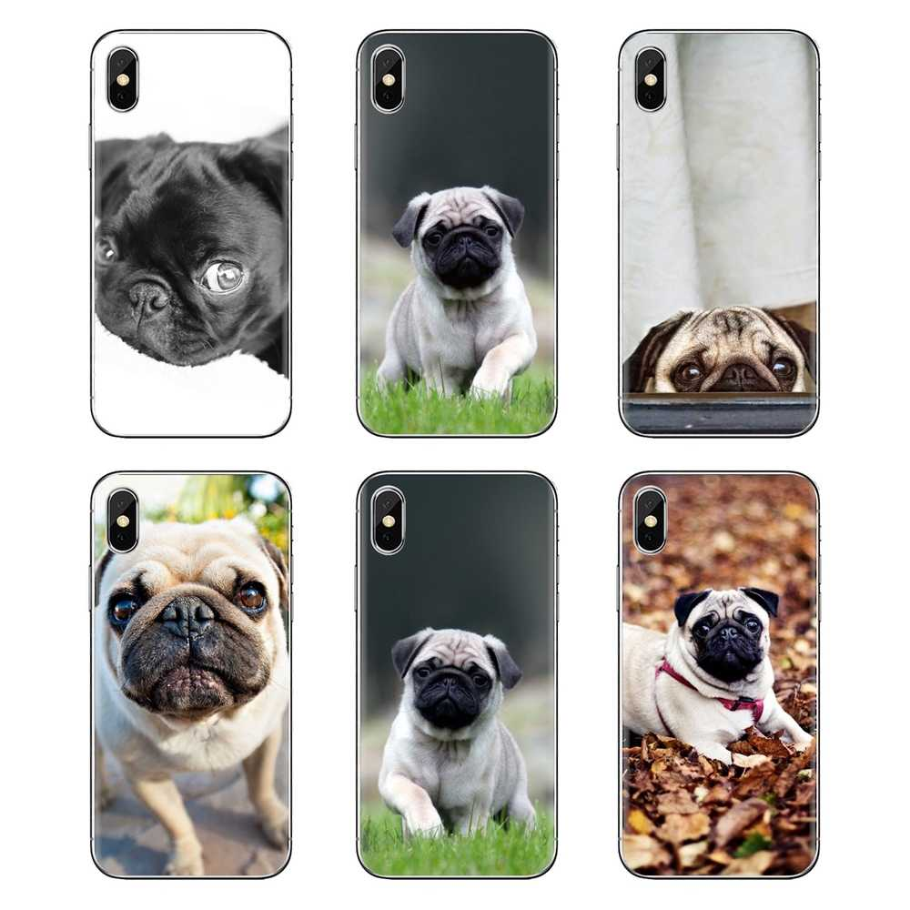 Для samsung Galaxy S3 S4 S5 мини S6 S7 край S8 S9 S10 Plus Note 3 4 5 8 9 милая собака мопс HD обои ТПУ