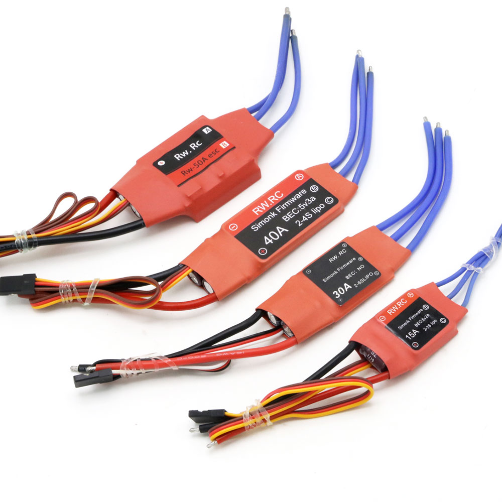 Image 3 - 4pcs/lot Simonk 10A/12A/15A /20A /30A/40A /50A/70A/80A Firmware Electronic Speed Controller ESC for RC Multicopter Helicopter-in Parts & Accessories from Toys & Hobbies