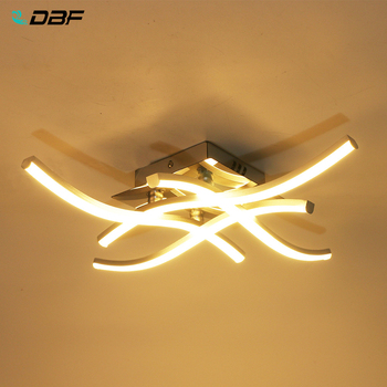 [DBF]Modern Forked Shaped Round/Square Ceiling Light 18W/24W LED Panel Light Warm/Cold White Light for Aisle Living room Decor 1