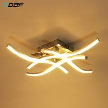 [DBF] luz de techo REDONDA/cuadrada con forma de espejo, Panel de luz LED de 18W/24W, luz blanca cálida/fría para pasillo, decoración para sala de estar