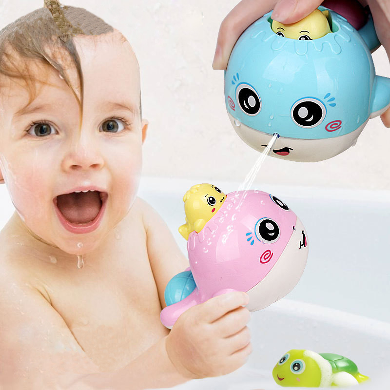 Warmom Baby Bathing Toys Funny Rattle Shower Toy Cartoon Animals Pool Swimming Baby Learning Educational Toys Kids Gifts