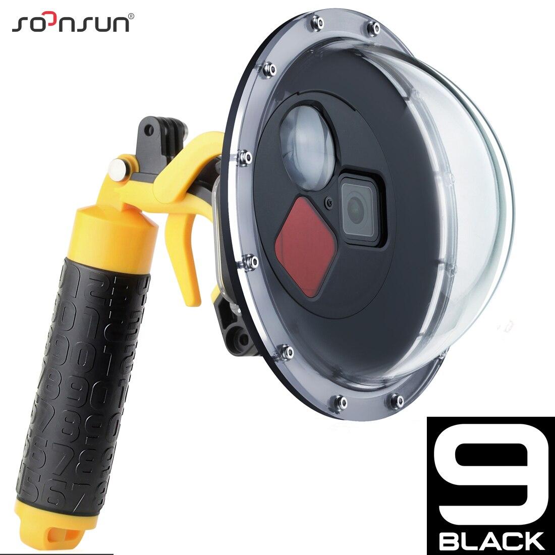 SOONSUN 45M фильтр переключаемый купольный порт водонепроницаемый чехол для дайвинга + триггер для GoPro Hero 9 Black Go Pro 9 аксессуар