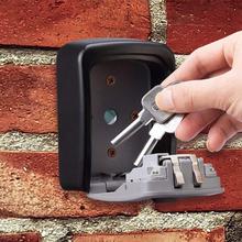 Sejf na klucze schowek na klucze naścienny schowek na klucze z hasłem mały schowek na klucze może zapobiegać lekkiemu deszczowi tanie tanio BH003 Gray Aluminum Alloy 133 * 100 * 55mm 550g