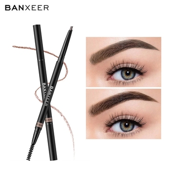 Precision Brow Pencil Ultra Fine Long Lasting Dual-use Eyebrow Pencil with Brush For Women Girl B99 1