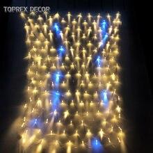 Сетчатый праздничный светильник toprex 15x15 м теплый белый