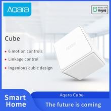 Умный контроллер Aqara Magic Cube, соединение Zigbee, 6 Настраиваемых жестов для управления умными домашними устройствами Xiaomi Aqara