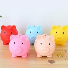 Caixa de armazenamento de moedas de banco de dinheiro de porco dos desenhos animados crianças brinquedos de presente de aniversário decoração de casa caixas de poupança de dinheiro