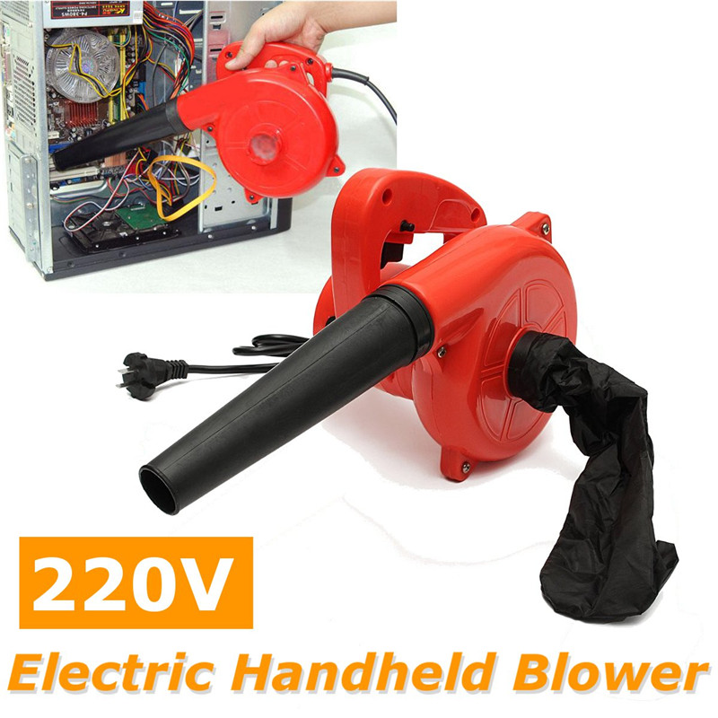220V 600W Electric Air Blower Portable Handheld Dust Collector Fan Spray Vacuum Cleaner Car Garden Studio Leaf Blowing Remover|Blowers| |  - title=