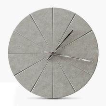 Silicone concrete clock mold classic design when making plaster cement home deco
