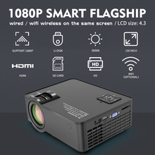 4.3'' LCD Projector SD150 ,1280x720,6000 Lumens Wireless Sync Display For Phone,