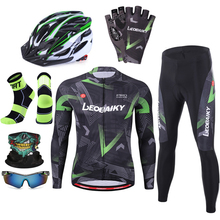 New Summer Pro Team Long Sleeve Cycling Set Men Riding Cycle Dress Racing Sports Road Bike Jersey Mtb Clothes Bicycle Clothing