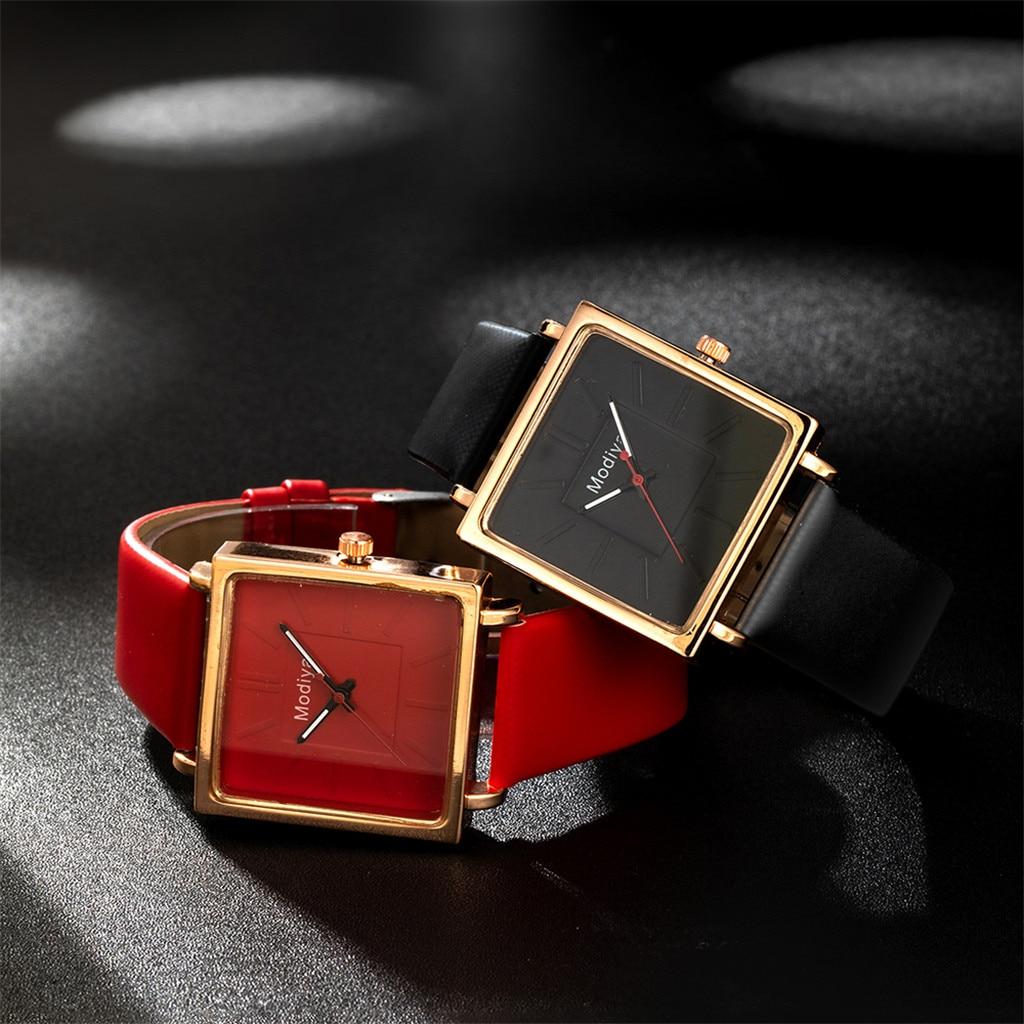 Top Brand Women Square Bracelet Watch Contracted Leather Crystal WristWatch Women Dress Ladies Quartz Watch Clock Dropshiping Q