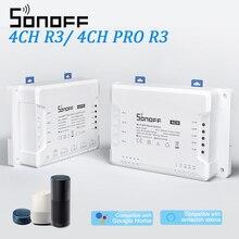 SONOFF 4CH R3/ 4CH PRO R3 Wifi переключатель модуль 4 банды Wi Fi DIY смарт переключатель приложение Голосовое управление Умный дом для Alexa Google Home