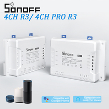 Sonoff 4CH R3/ 4CH Pro R3 Wifi Schakelaar Module 4 Gang Wi fi Diy Smart Switch App Voice Control Smart thuis Voor Alexa Google Thuis