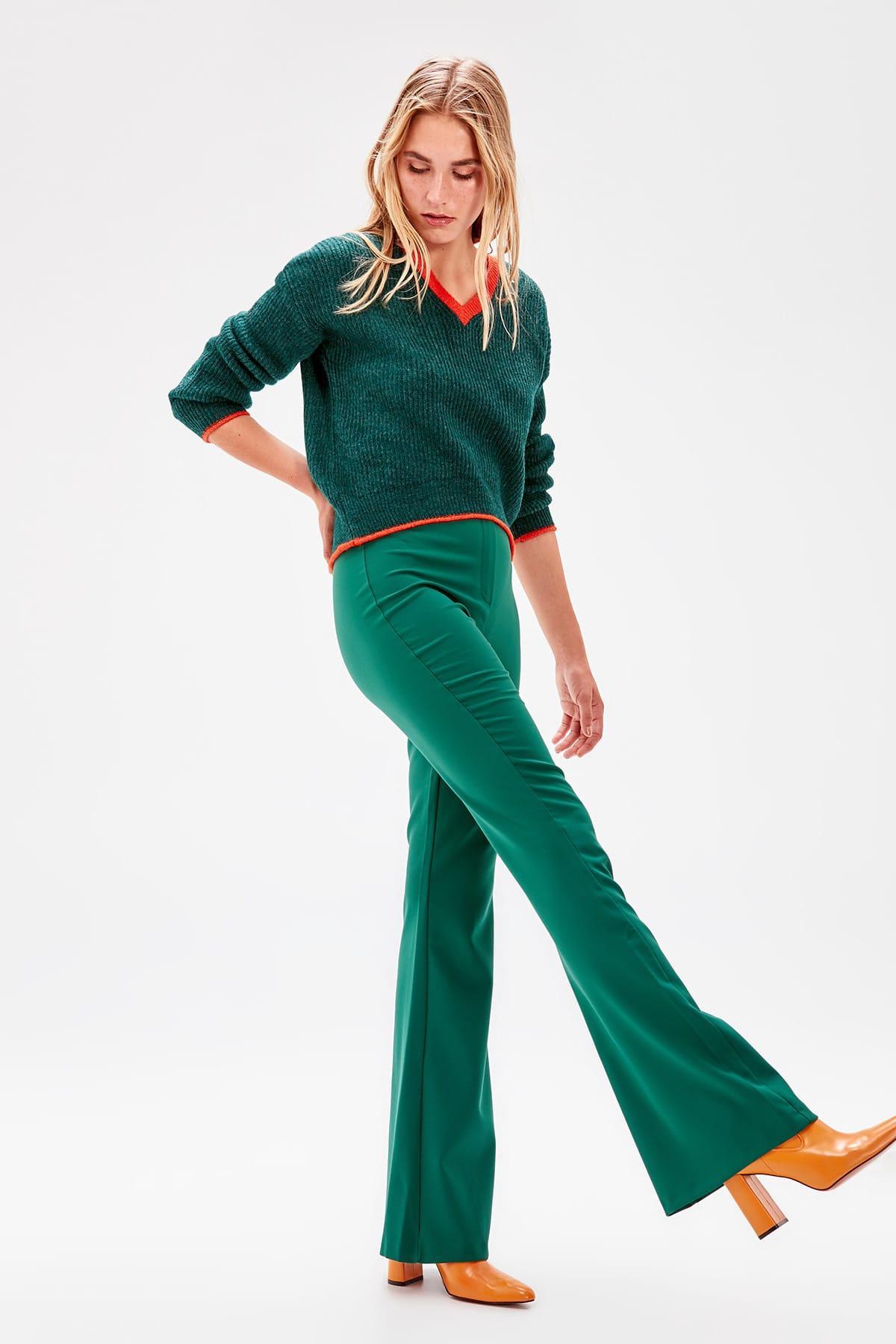 Trendyol Green Yüksel Bel Pants TWOAW20PL0094