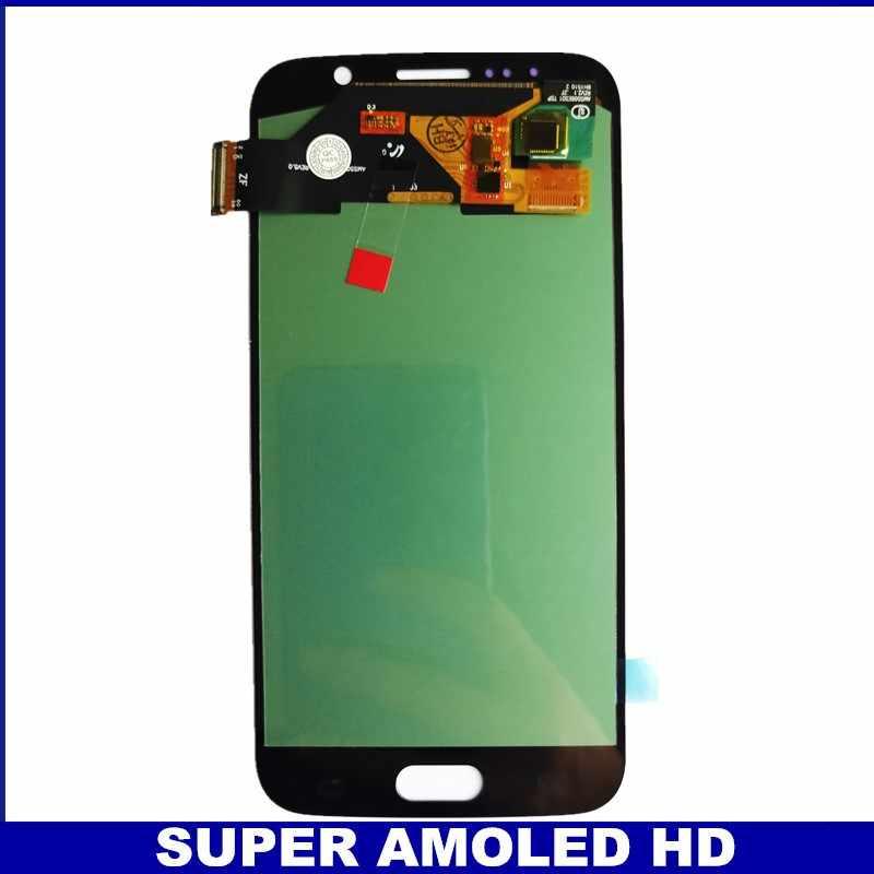 100% probado AMOLED para Samsung S6 G920 G920F G920A G920FQ pantalla LCD pantalla táctil digitalizador piezas de reparación