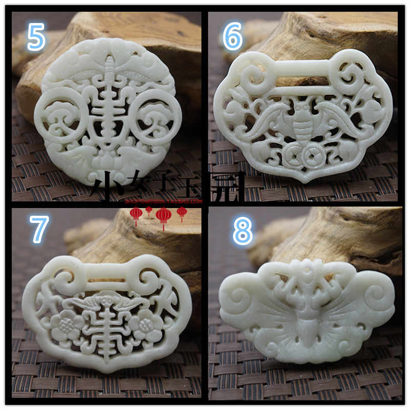טבעי לבן ירקן מגולף מזל דרקון בת בעלי החיים תליון סיני שרשרת קסם תכשיטי אופנה קמע מזל מתנות גבר נשים