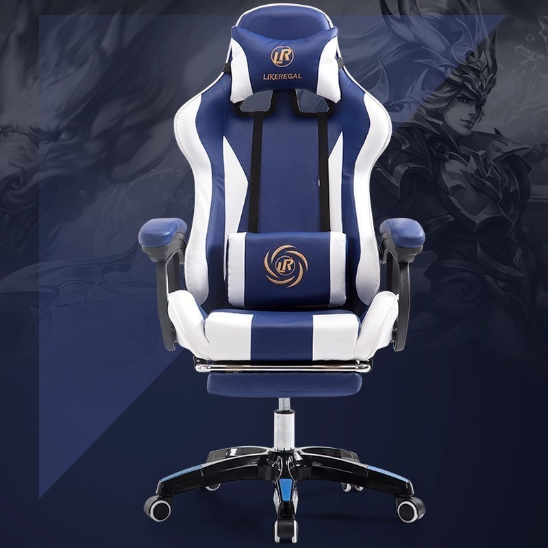 Work Swivel Office With Neck Support Internet Sports LOL Racing Time Gaming Computer Ergonomic Kneeling Chair Game Competition