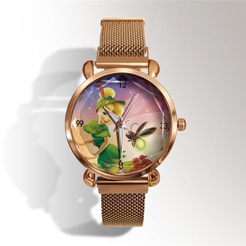 Reloj Popular в Европе и Америке 3d мультфильм кварц часы сетка браслет студент спорт часы магнит пряжка платье часы женщины +% D1% 87% D0% B0% D1% 81% D1% 8B