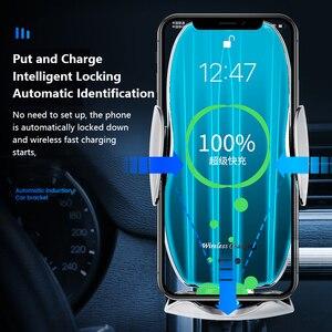 Image 2 - Automatische 15W Snelle Auto Draadloze Oplader Voor Samsung S20 S10 Iphone 12 11 Xs Xr 8 Magnetische Usb Infrarood sensor Telefoon Houder
