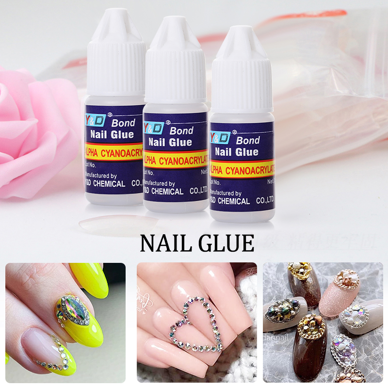 BORN PRETTY 1PC 3g Nail Glue For French False Tips Acrylic Adhesive Glue Varnish Fast Drying Manicur Rhinestones Nail Art Tools