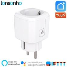Lonsonho Smart Plug Wifi Socket EU KR 16A 3680W Power Monitor Energy Saver Works With Google Home Mini Alexa IFTTT