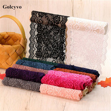 1Meter Colorful Acrylic Yarn Crochet Elasticity Lace Trims Ribbon Fabric Clothing DIY Sewing Crafts