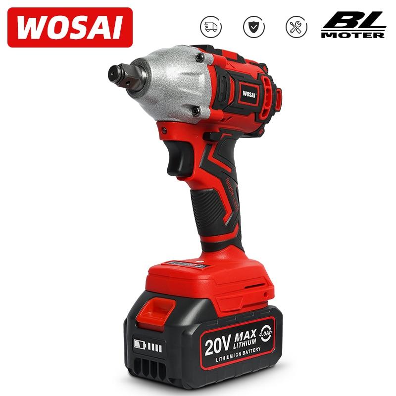 WOSAI 20V sans fil sans brosse clé à chocs clé à douille 320N.m 4.0AH Li batterie perceuse à main Installation