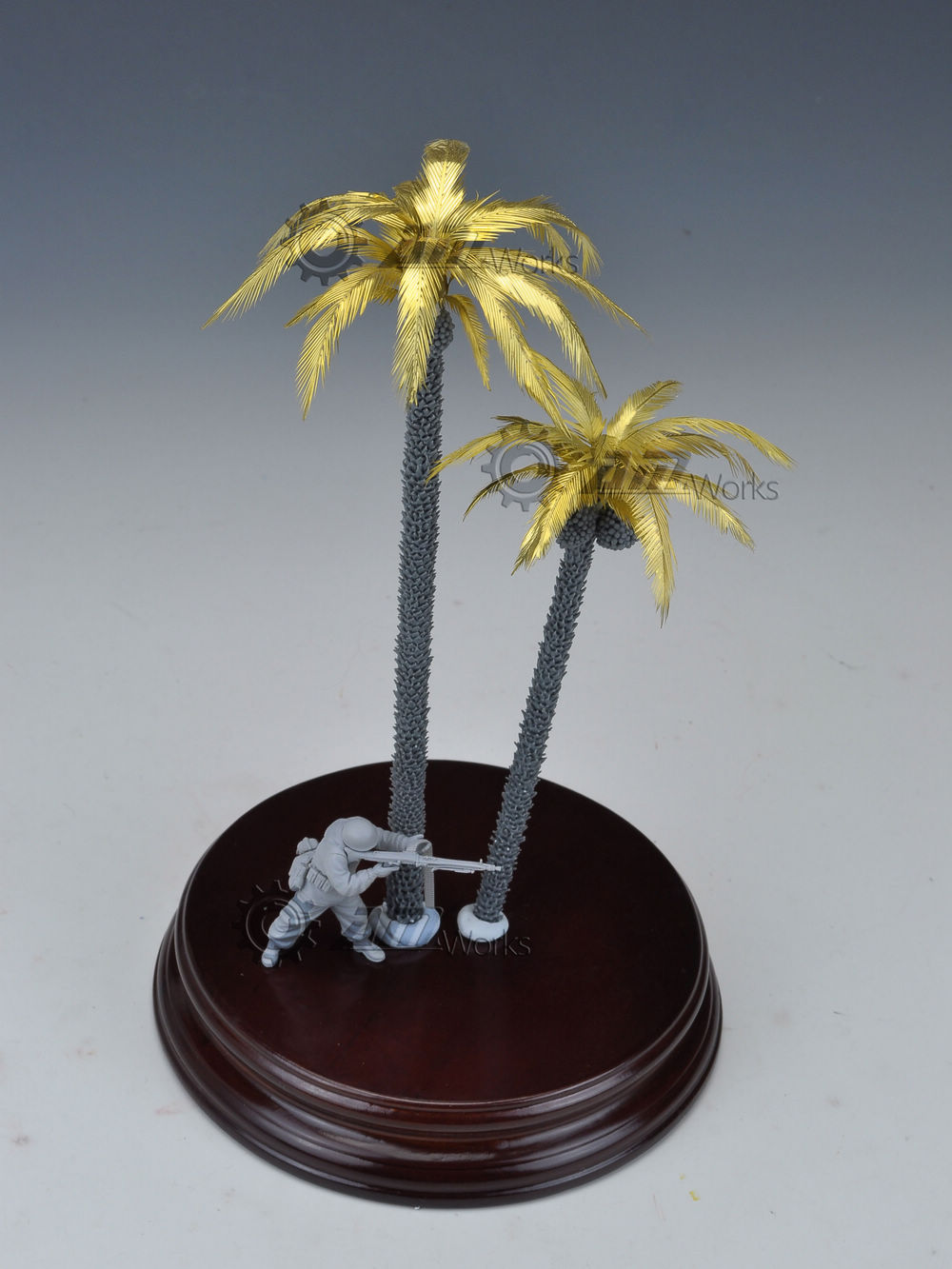 New 1/35 Coconut Tree For WWII German In Africa Model Scene (Resin+Leaves Etching Sheet) Good Details Drop Shipping