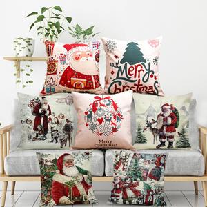 GZTZMY Happy-New-Year Cover Decorative Pillows Navidad Natal Cartoon Home 1pcs for Elk