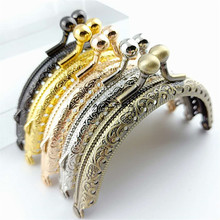 100Pcs 8.5cm Retro Coin Purse Metal Purse Frame Kiss Clasp Lock Handmade DIY Mouth Gold Package For Bag Accessorie