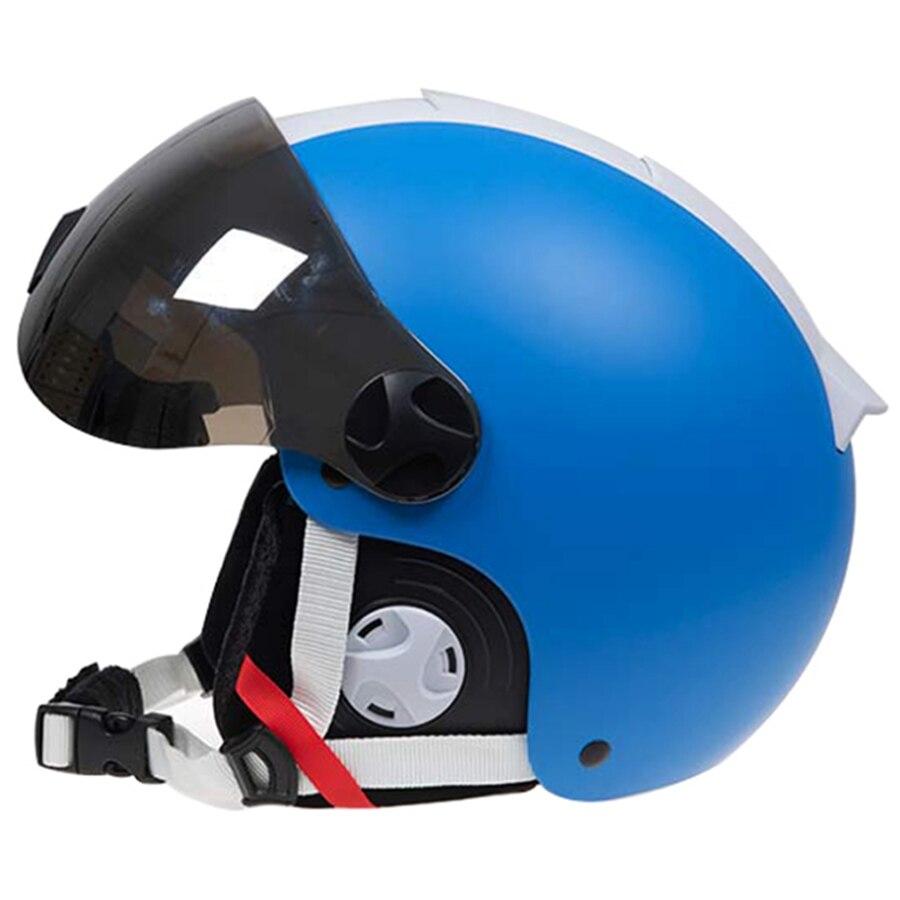 LOCLE Goggles Ski Helmet With Visor ABS+EPS CE Certification Skiing Helmet Women Men Child Ski Snowboard Snowmobile Snow Helmet