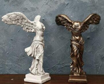 Winged Nike Victory Of Samothrace Greek Goddess Handmade Statue Sculpture Beautiful Woman Success Statue