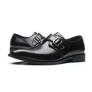 Image 5 - を2020男性は靴手作りブリティッシュブローグスタイルパティ革の結婚式の靴メンズフラットレザーオックスフォード