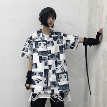 Anime Print Harajuku T Shirt for Women Ladies Summer Tshirt Ulzzang Korean Style