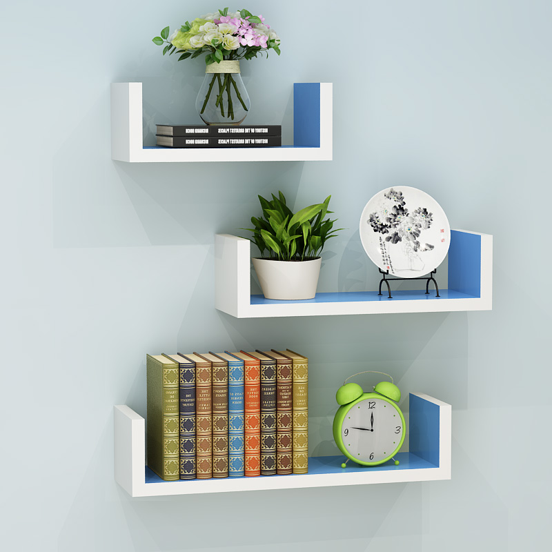 3Pcs Set Decorative Shelves Ornament book Wall Shelf Display Rack Fashion Collecting Holder Wall Hanging Home