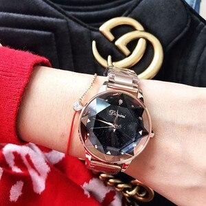 Image 2 - New Luxury Brand ladies Watch Women Bracelet Watches Purple Rose Gold Waterproof Stainless Steel Quartz Wristwatch reloj mujer