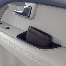 Коробка для хранения ручки передней двери 2 шт. автомобильный Стайлинг для Volvo XC70 V70 S80 автомобильный Органайзер аксессуары для интерьера