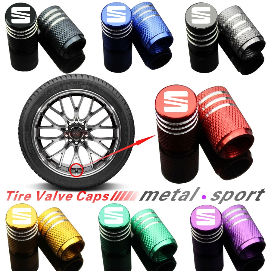 Car Styling Wheel Tire Parts Valve Stem Plugs Cover For Seat Leon Ibiza Alhambra Exeo Altea Arona Ateca Car Accessories