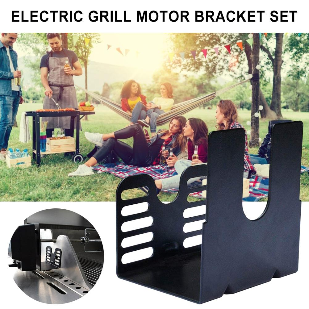 MB02 <font><b>Electric</b></font> Grill <font><b>Motor</b></font> <font><b>Bracket</b></font> Barbecue Accessories Stainless Steel Rotisserie Universal Barbecue Grill <font><b>Motor</b></font> Support Rack image