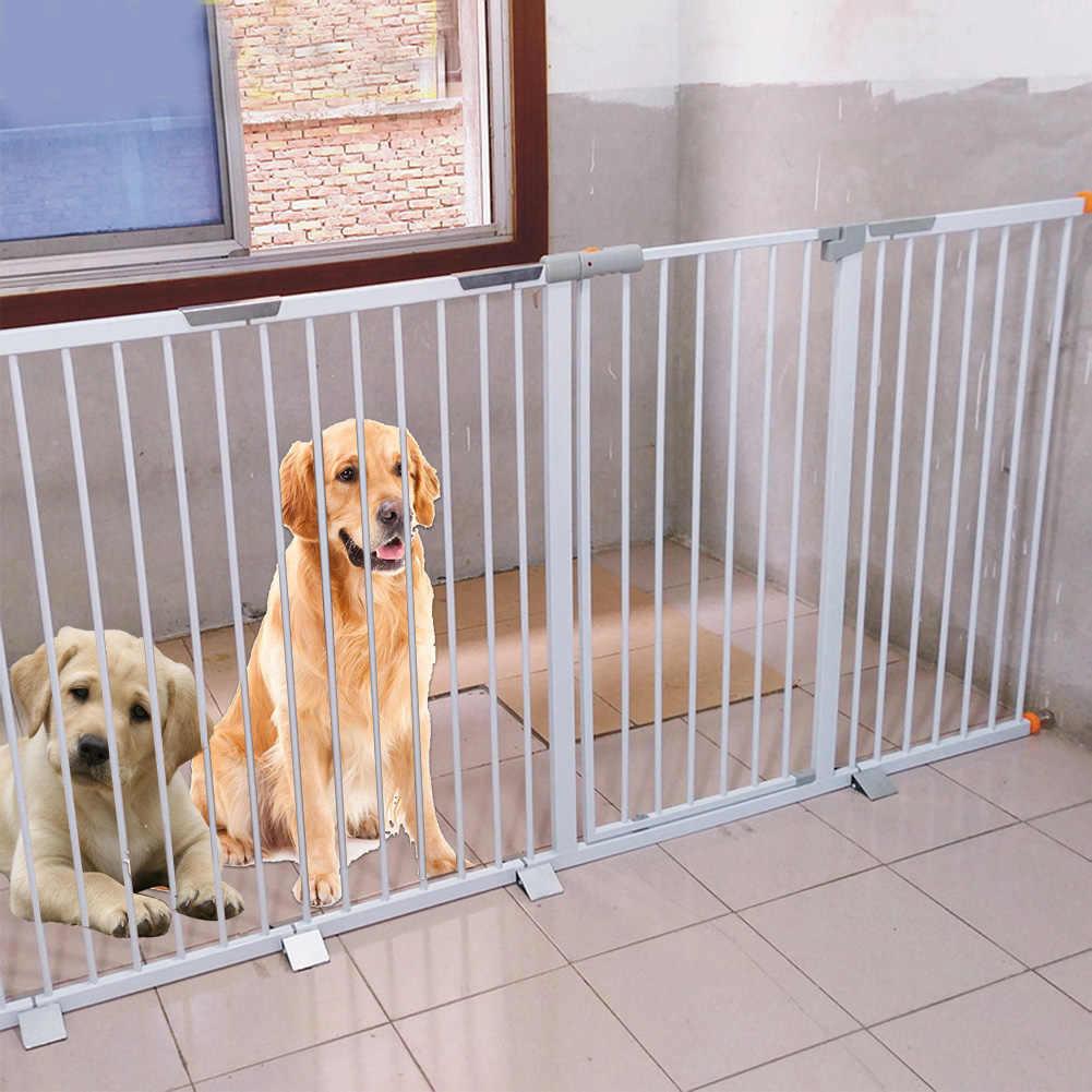 Valla de aislamiento puerta de seguridad barandilla mascota perro hogar alto profesional Triangular aleación de aluminio duradero