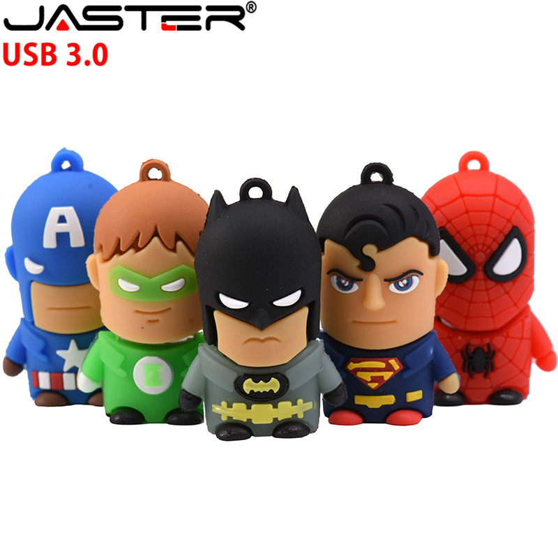 JASTER USB 3.0 Creative Cartoon Marvel Superhero Character Series Usb Flash Drive 4GB 8GB 16GB 32GB 64GB Fast Usb Memory Stick