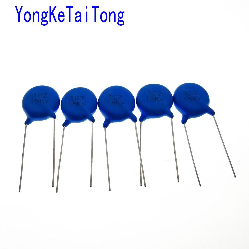20PCS 10215kv 15KV102K 15KV 102K 1000PF 15000V Ceramic-dielectric Capacitor 102PF