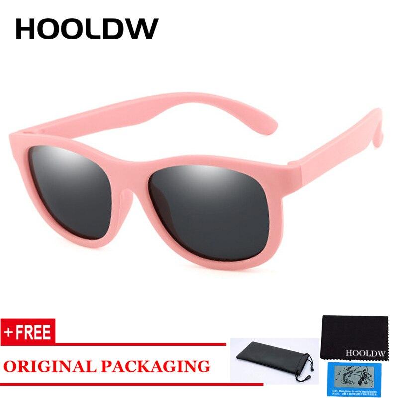 HOOLDW New Polarized Kids Sunglasses Silicone Flexible Safety Children Sun Glasses Boys Girls Baby Shades Glasses UV400 Eyewear
